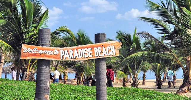 Paradise Beach in Pondicherry