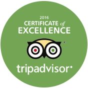 Excellence Certified By Trip Advisor 2016