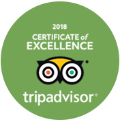 Excellence Certified By Trip Advisor 2018